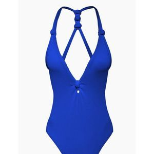 DOLCE VITA Knotted High Cut One Piece Swimsuit M